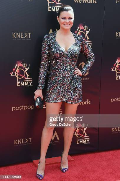 Heather Tom attends the 46th annual Daytime Emmy Awards at Pasadena Civic Center on May 05 2019 in Pasadena California