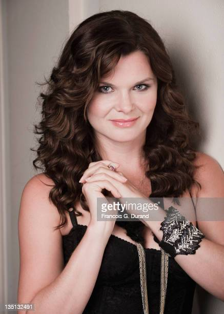 Heather Tom poses during a portrait session at Hotel de Paris on June 8 2011 in Monaco Monaco