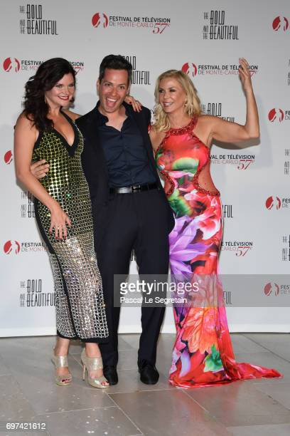Heather Toma guest and Katherine Kelly Lang attend the 'The Bold and The Beautiful' 30th Years anniversary during the 57th Monte Carlo TV Festival...
