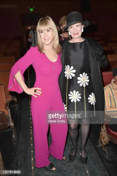 Heather van Haaften and Stanislava Overholt attend the House Of Cardin Special Screening At Palm Springs Modernism Week at The Plaza Theater on...