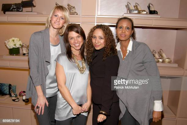 Heather Van Winkle Christine Marconi Gaby Hernandez and Faisa Ali attend Jimmy Choo and Vogue Celebrate the Launch of Project PEP at Jimmy Choo on...