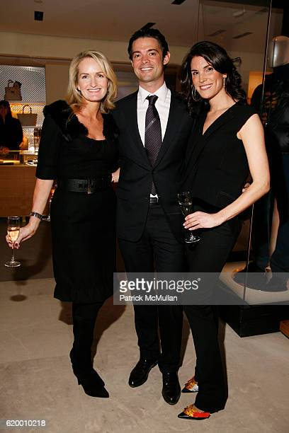 Heather Vandenberghe Brendan Monaghan and Amy Erbesfeld attend GQ and LOUIS VUITTON celebrate Men of Style New York at Louis Vuitton on December 2...