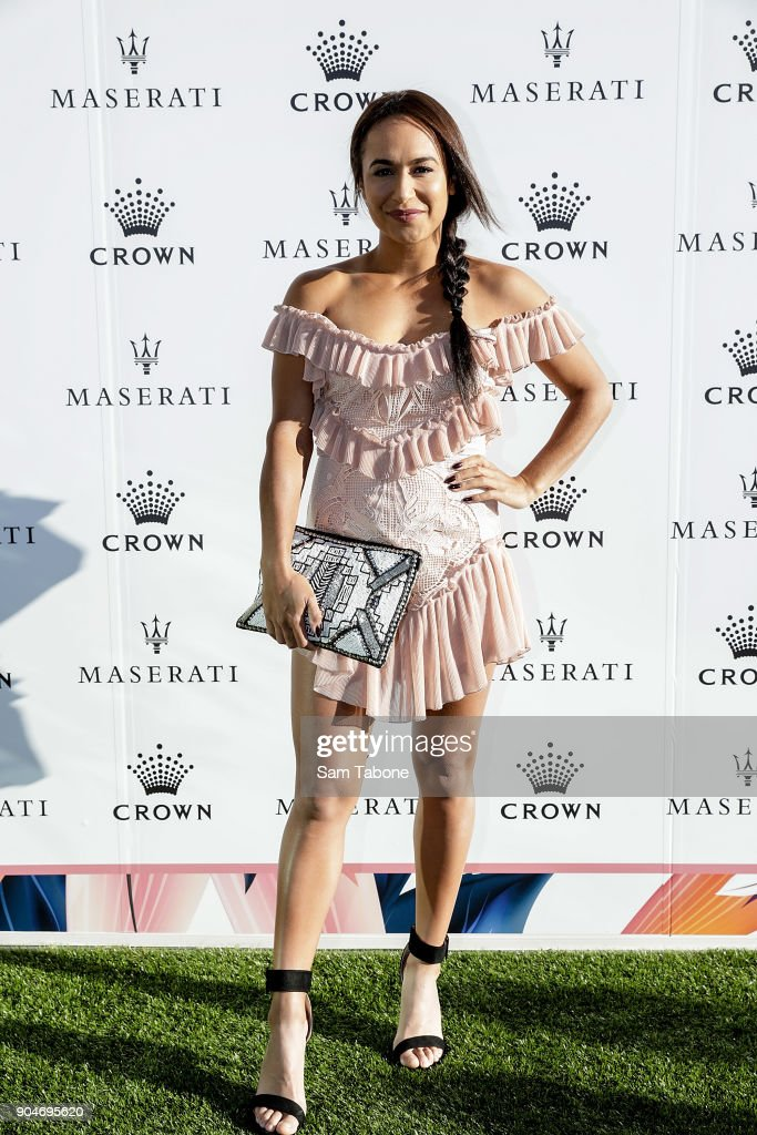 Heather Watson arrives ahead of the 2018 Crown IMG Tennis Player at Crown Palladium on January 14, 2018 in Melbourne, Australia.