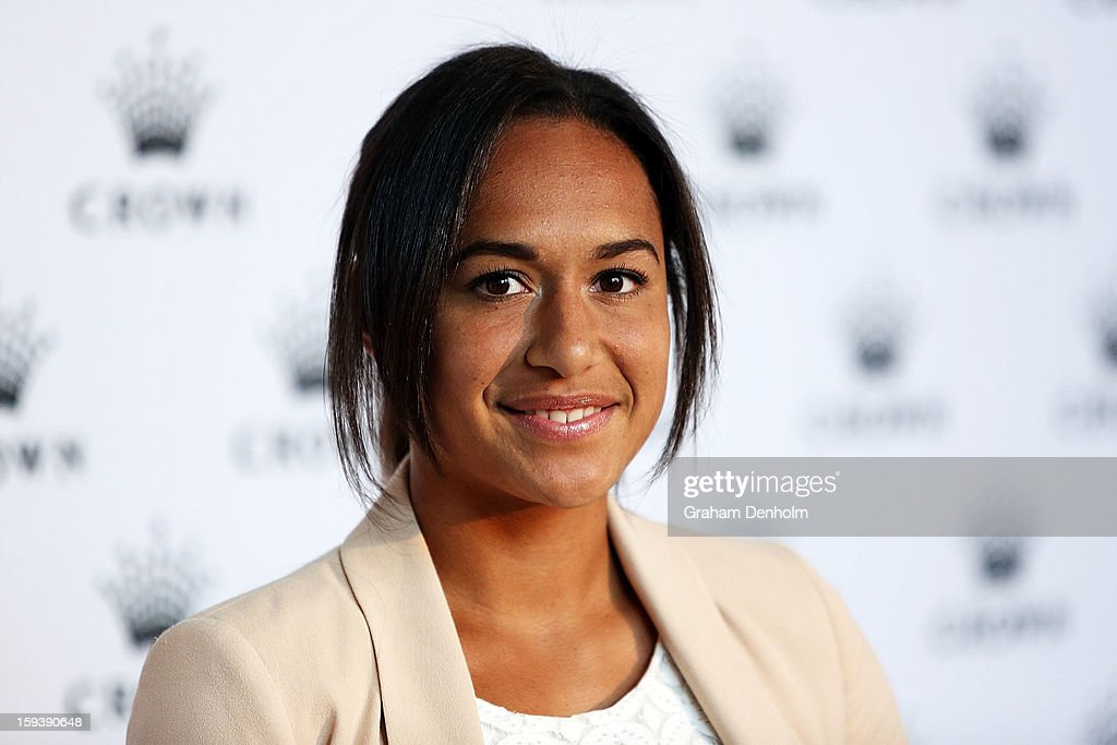 Heather Watson arrives at Crown's IMG Tennis Player's Party at Crown Towers on January 13, 2013 in Melbourne, Australia.