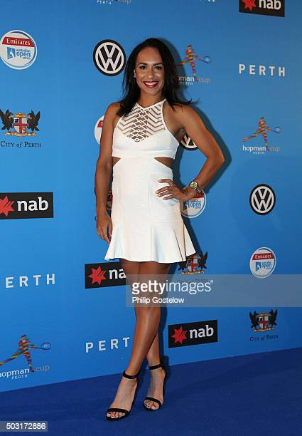 Heather Watson arrives at the 2016 Hopman Cup Player Party at Perth Crown on January 2 2016 in Perth Australia