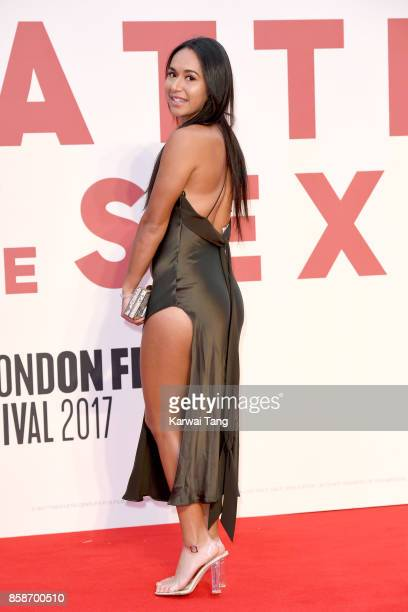 Heather Watson attends the American Express Gala European Premiere of Battle of the Sexes during the 61st BFI London Film Festival at the Odeon...