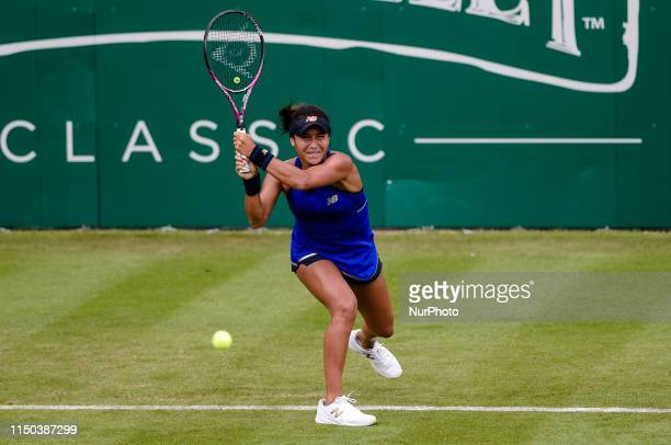 Heather Watson during her Round of 32 match with Barbara Strycova during the Nature Valley Classic Tennis Tournament at Edgbaston Priory Club...