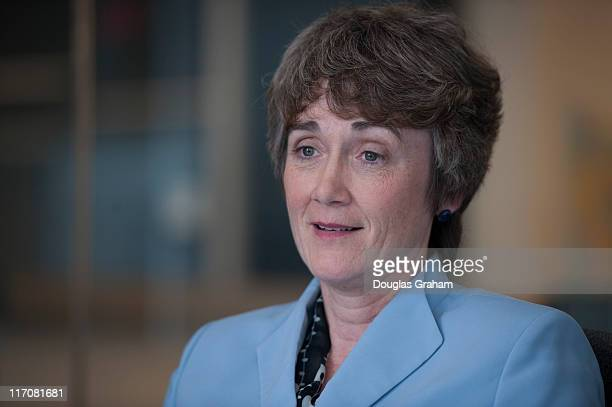 Heather Wilson during a interview with Roll Call's politics desk