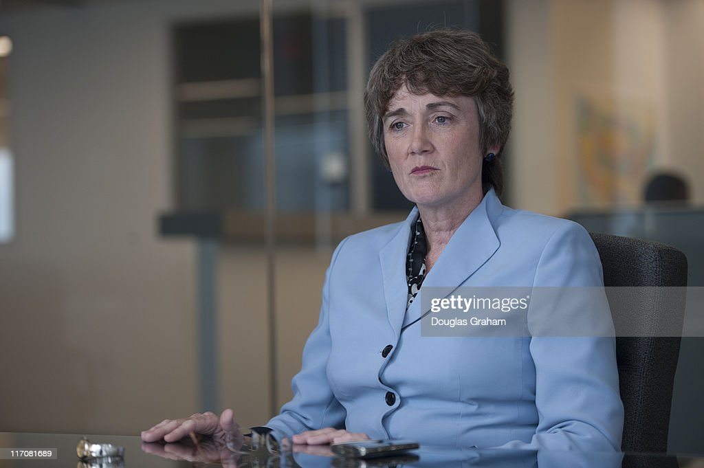 Heather Wilson during a interview with Roll Call's politics desk.
