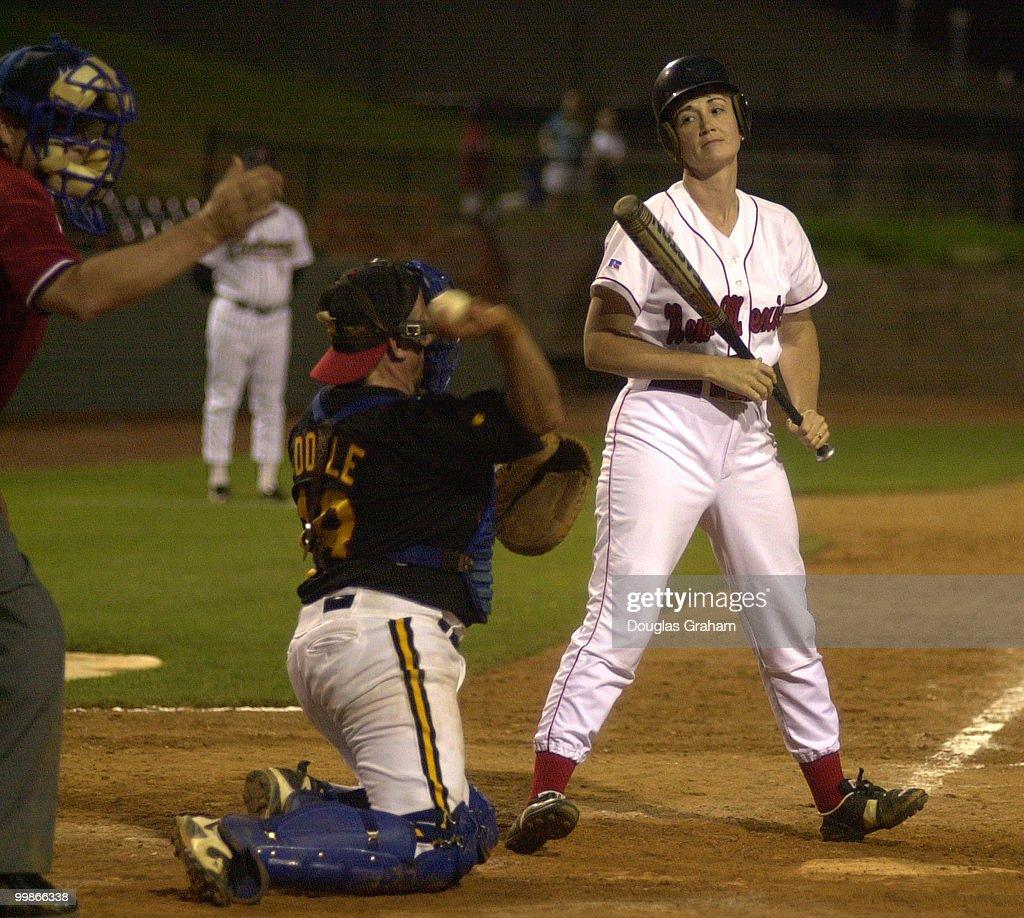 Congressional Baseball : News Photo