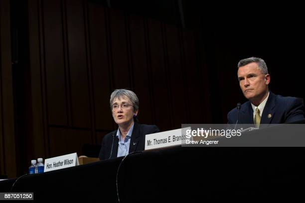 Heather Wilson Secretary of the US Air Force and Thomas Brandon acting director of the Bureau of Alcohol Tobacco Firearms and Explosives testify...