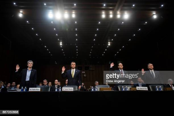 Heather Wilson Secretary of the US Air Force Thomas Brandon acting director of the Bureau of Alcohol Tobacco Firearms and Explosives Glenn Fine...