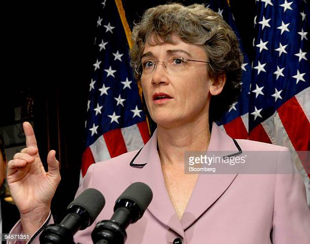 Heather Wilson US representative from New Mexico speaks at a news conference with other House Republican leaders in Washington DC US on Wednesday Jan...