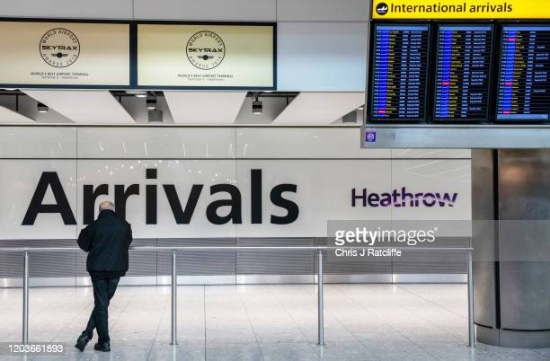 Heathrow Terminal 5 arrivals on February 27 2020 in London England Plans for a third runway at Heathrow airport have been ruled illegal by the court...
