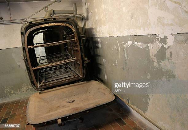 A heating device is seen at the laundry barrack of the World War II concentration camp of Mauthausen on April 17 2013 AFP PHOTO / ALEXANDER KLEIN