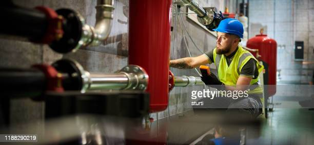 heating exchange inspection - ventilator stock pictures, royalty-free photos & images