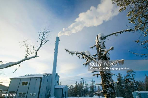 A heating plant in Saariselka in northern Finland The plant that supplies heat to houses in the town is much more efficient than the individual...