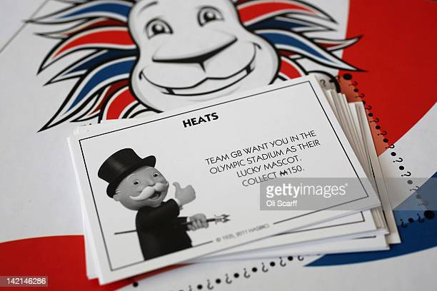 A 'Heats' card from a special edition London 2012 Olympic Games themed version of the Monopoly board game on March 29 2012 in London England