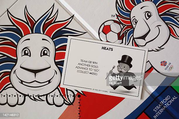 Heats' card from a special edition London 2012 Olympic Games themed version of the Monopoly board game on March 29, 2012 in London, England.