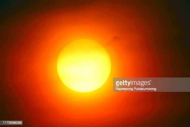 heatwave hot sun. global warming from the sun and burning. climate change. - heat wave stock pictures, royalty-free photos & images