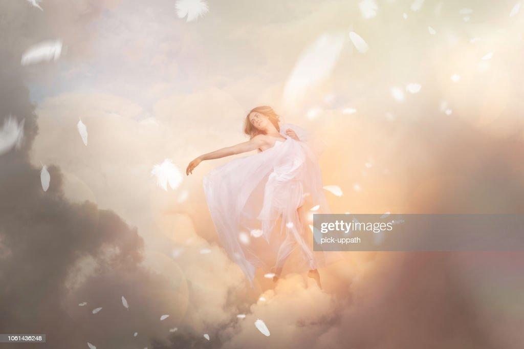 Heaven and angel : Foto de stock