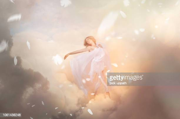 heaven and angel - elysium stock photos and pictures