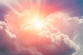 heaven cloud sky sunny bright for future wealth fortune day concept