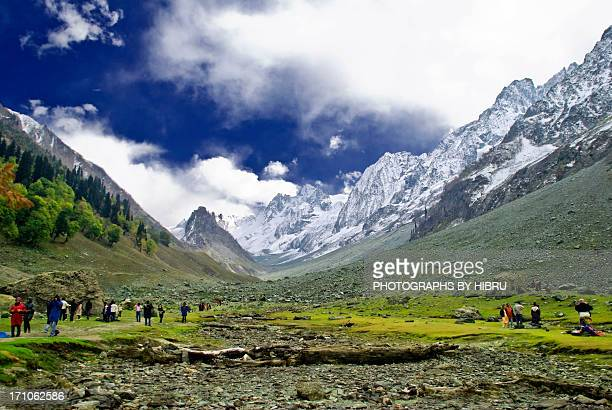 heaven - kashmir valley stock photos and pictures
