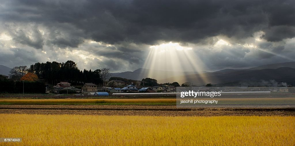 Heaven Rains Down : Stock Photo