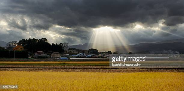 heaven rains down - iwate prefecture stock photos and pictures