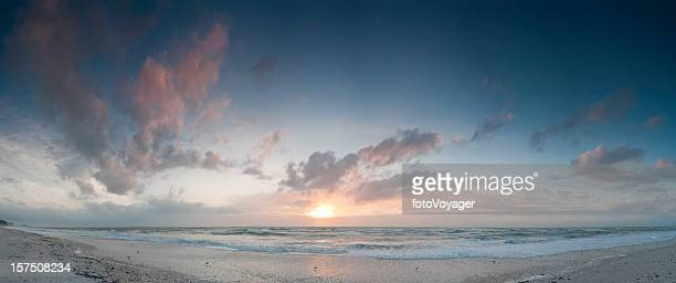 Heavenly beach background ocean sunset panorama Florida Gulf Coast
