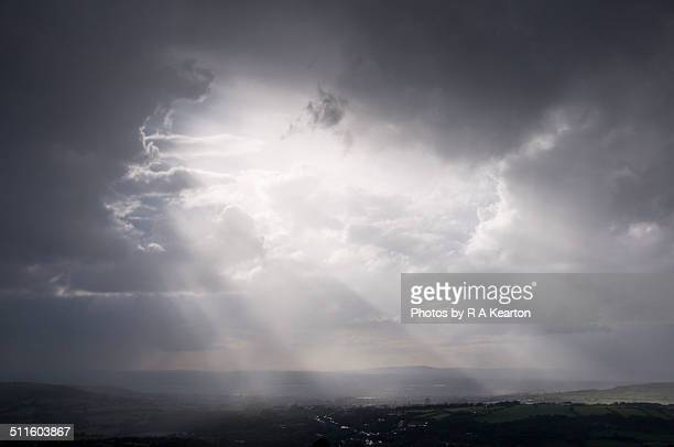 Heavenly beams of light after a storm