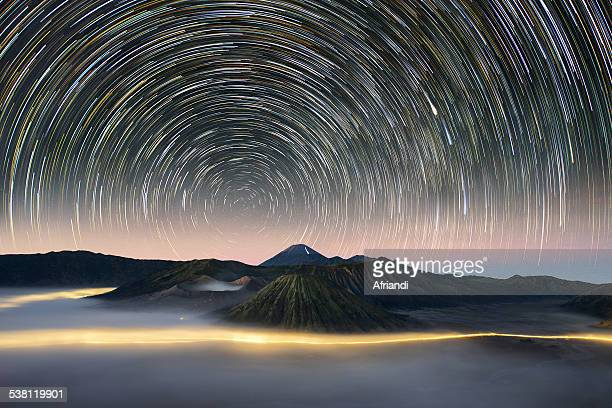 heavenly bromo - bromo crater stock photos and pictures