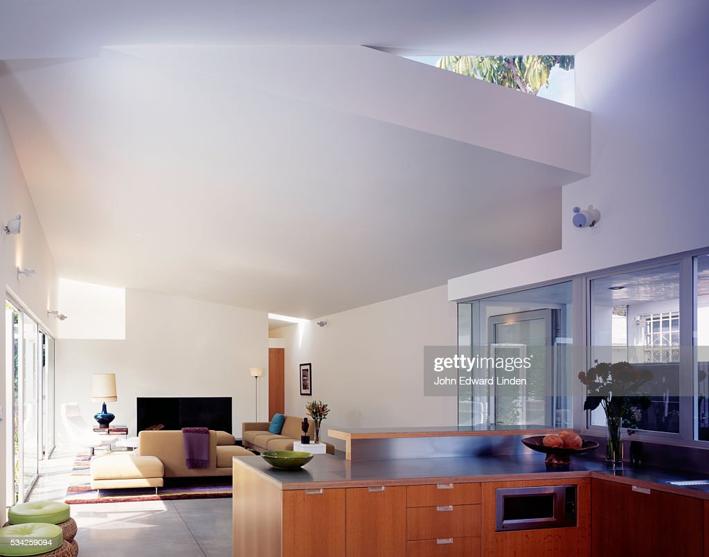 Heavenly Contemporary: Modernist Living Room : Stock Photo