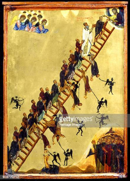 Heavenly Ladder of Saint John Climacus 12th century Found in the Collection of Saint Catherine's Monastery Mount Sinai Egypt