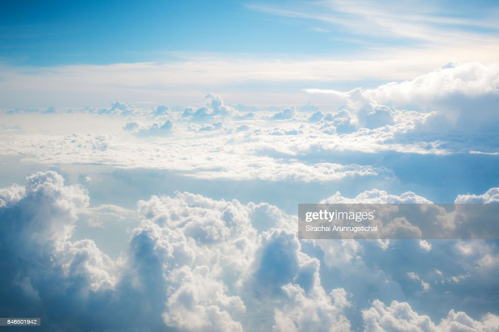 Heavenly scenery of clouds in the sky : Stock Photo