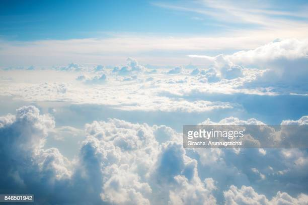 Heavenly scenery of clouds in the sky