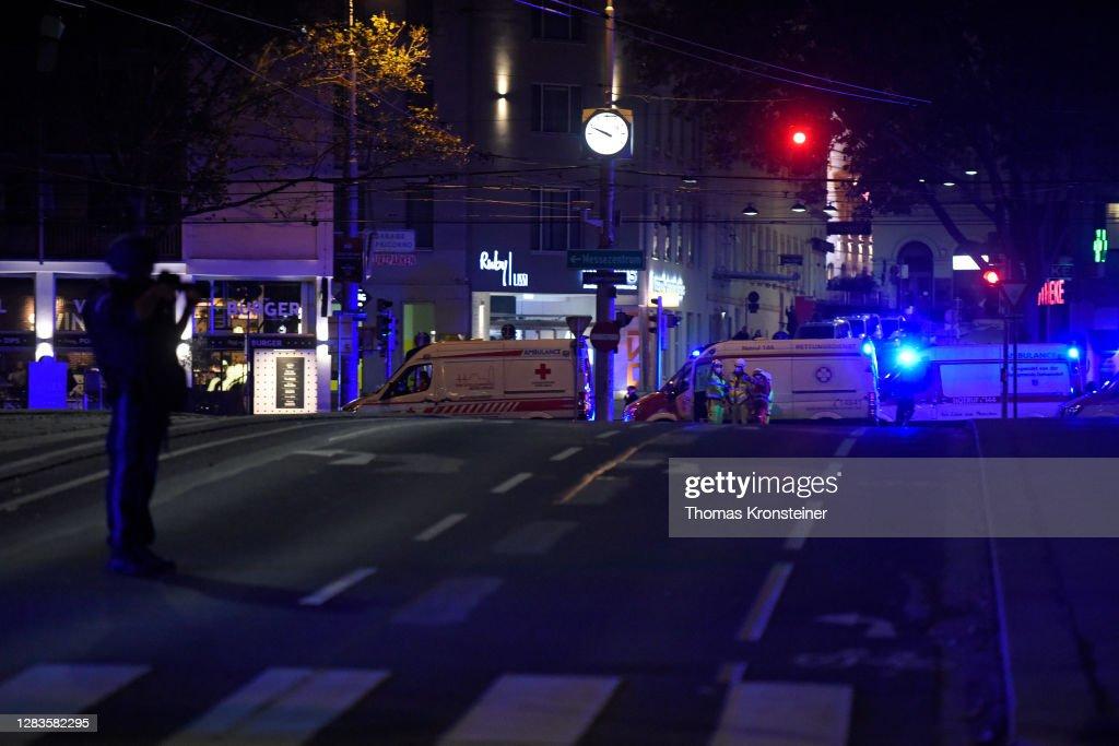 Shots Fired Near Synagogue In Vienna : News Photo
