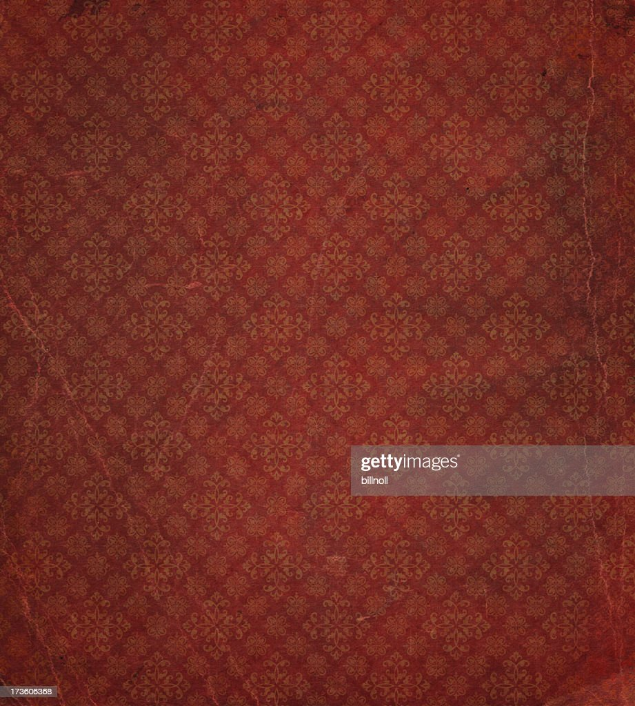heavily distressed wallpaper pattern : Stock Photo