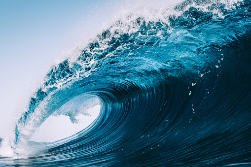 heavy and blue wave of Tenerife - gettyimageskorea