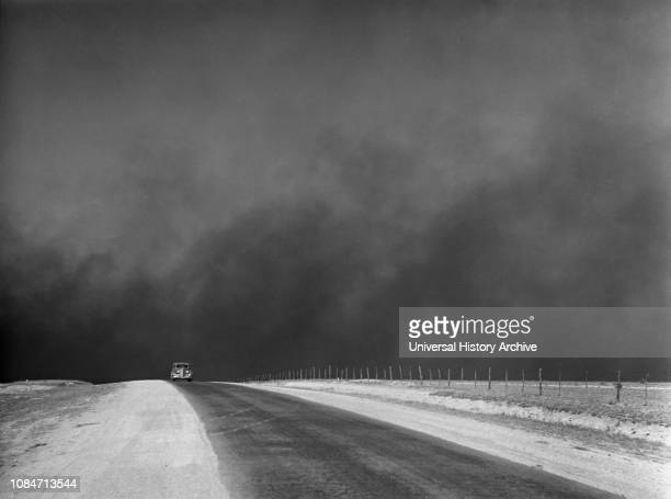 Heavy Black Clouds of Dust Rising over Texas Panhandle Texas USA Arthur Rothstein Farm Security Administration March 1936