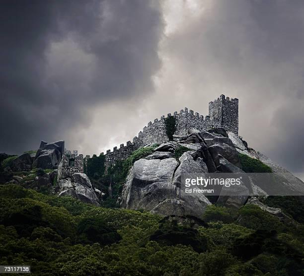 Heavy clouds over Castelo dos Mouros, Sintra, Portugal