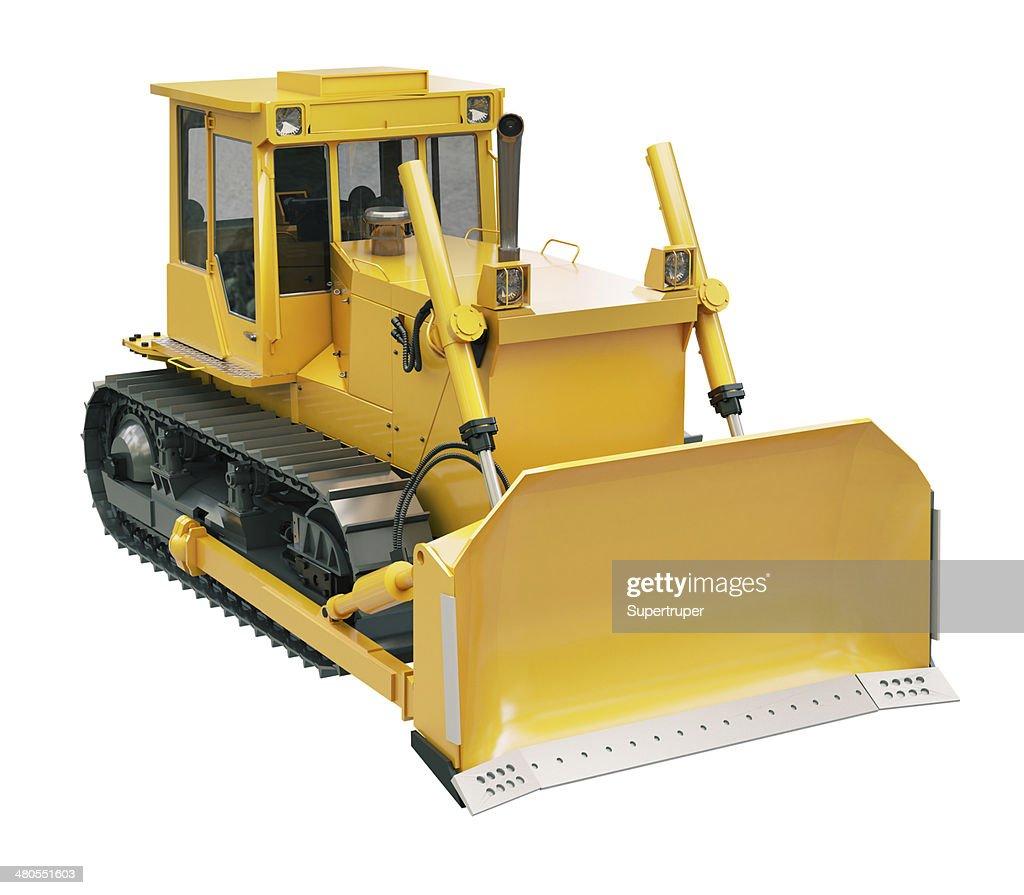 Altas crawler máquina excavadora aislado : Foto de stock