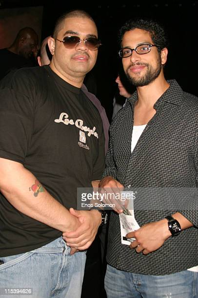 Heavy D and Adam Rodriguez during Medal of Honor Rag Starring Heavy D Preview Night at Egyptian Arena Theatre in Hollywood California United States