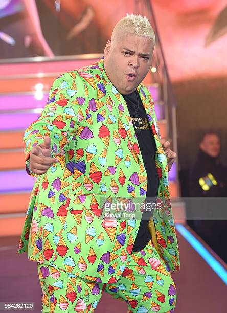 Heavy D enters the Big Brother House for the Celebrity Big Brother launch at Elstree Studios on July 28 2016 in Borehamwood England
