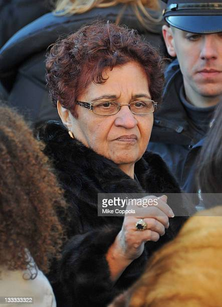 Heavy D's mother Eulahlee Lee attends the funeral service for Heavy D at Grace Baptist Church on November 18 2011 in Mount Vernon New York