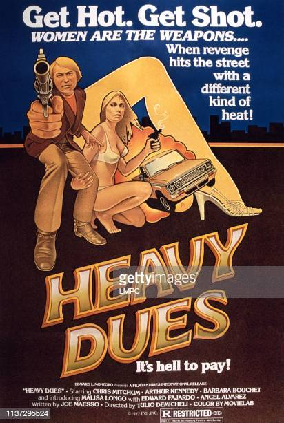 Heavy Dues poster from left Christopher Mitchum Barbara Bouchet 1973