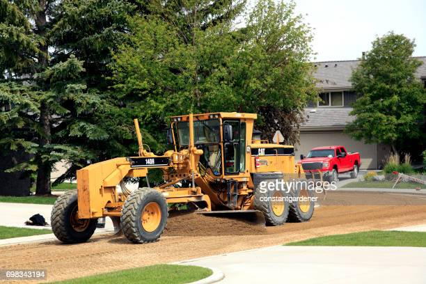 Heavy Equipment Grading The New Residential Roadway