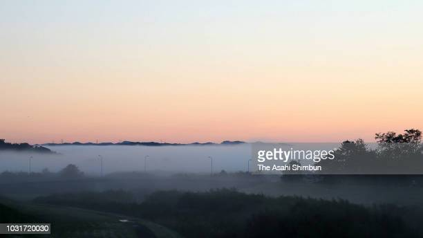 Heavy fog blackets on September 11 2018 in Atsuma Hokkaido Japan A male resident in Atsuma who was the last reported missing from last week's...