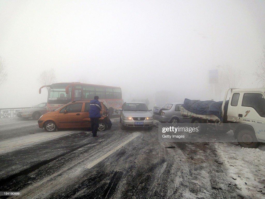 Dense Fog Hits North And East China News Photo
